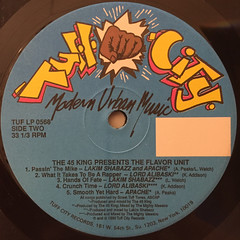 THE 45 KING PRESENTS FLAVOR UNIT(LABEL SIDE-B)