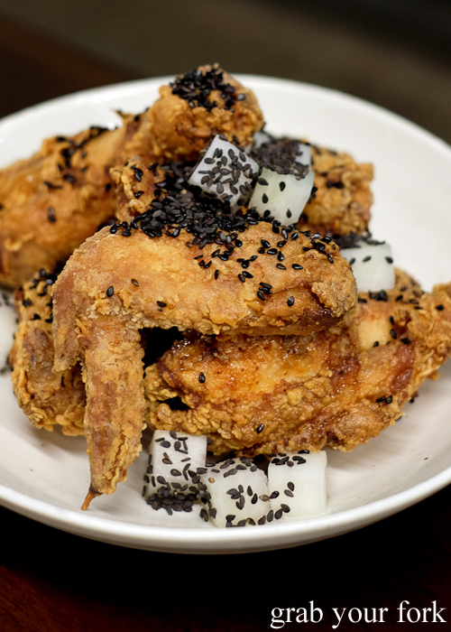 Shrimp brined fried chicken at Paper Bird in Potts Point