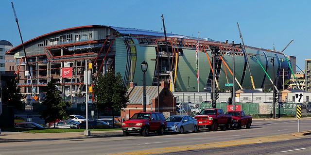 New Bucks Arena under construction