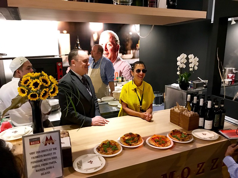 Nancy Silverton at Mozza booth