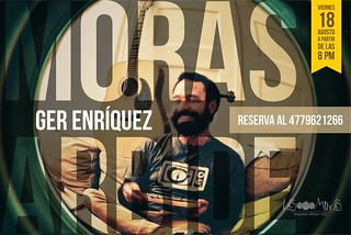 Este viernes 18 de agosto música en vivo en las Moras Arbide a partir de las 8 pm. Nos acompaña Ger Enríquez, ven y disfruta de su música en nuestra terraza. ¡Te esperamos!  Reserva al 4779621266 #viernes #LasMorasRestaurante #LasMoras #guanajuato #león