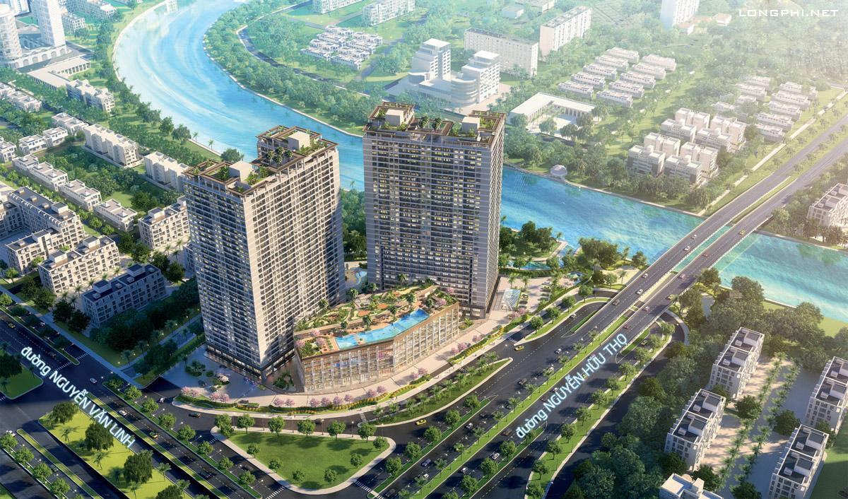 Ảnh phối cảnh từ trên cao dự án căn hộ Lavida Plus (Lavida+) quận 7 của chủ đầu tư Quốc Cường Gia Lai.