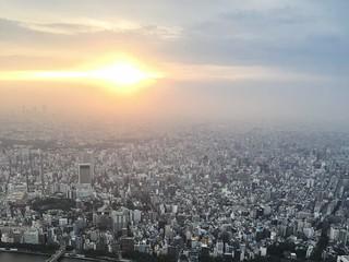 Sunset, Tokyo