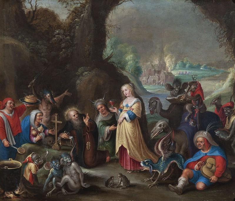 Cornelis de Bailleur - The Temptation of  Saint Anthony, based on Frans Francken the Younger, 17th  C