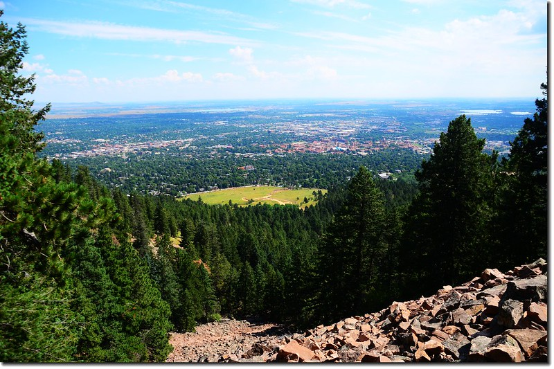 Overlooking Boulder downtown from the talus field 2