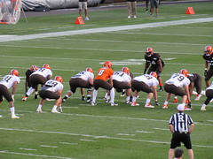 Orange and Brown scrimmage --