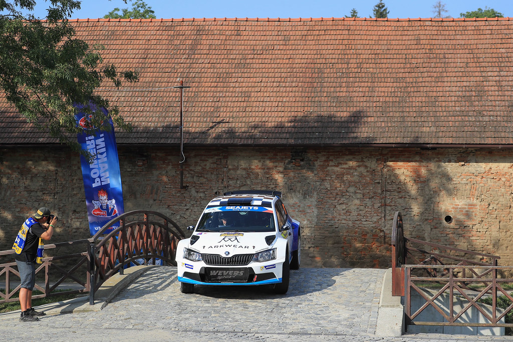 28 VON THURN UND TAXIS Albert (DEU) DEGANDT Bjorn (BEL) Skoda Fabia R5 action during the 2017 European Rally Championship ERC Barum rally,  from August 25 to 27, at Zlin, Czech Republic - Photo Jorge Cunha / DPPI