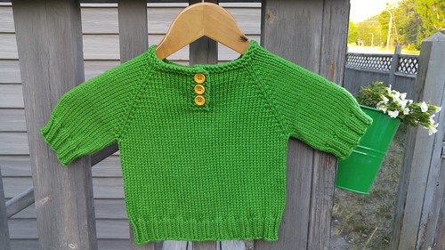 fo: A Simple Baby Sweater Knit from Diamond Luxury Fine Merino Superwash Aran