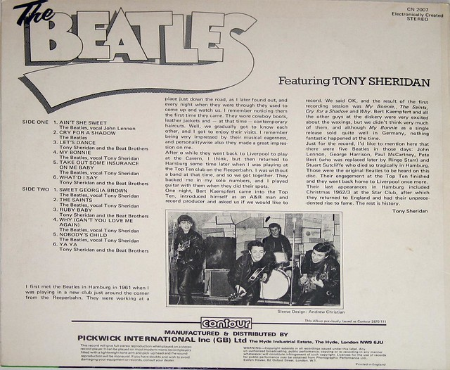 Beatles Tony Sheridan