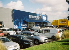 Officeworks store, parking lot