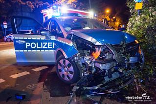 Zusammenstoß mit Streifenwagen Kasteler Str. 01.09.17