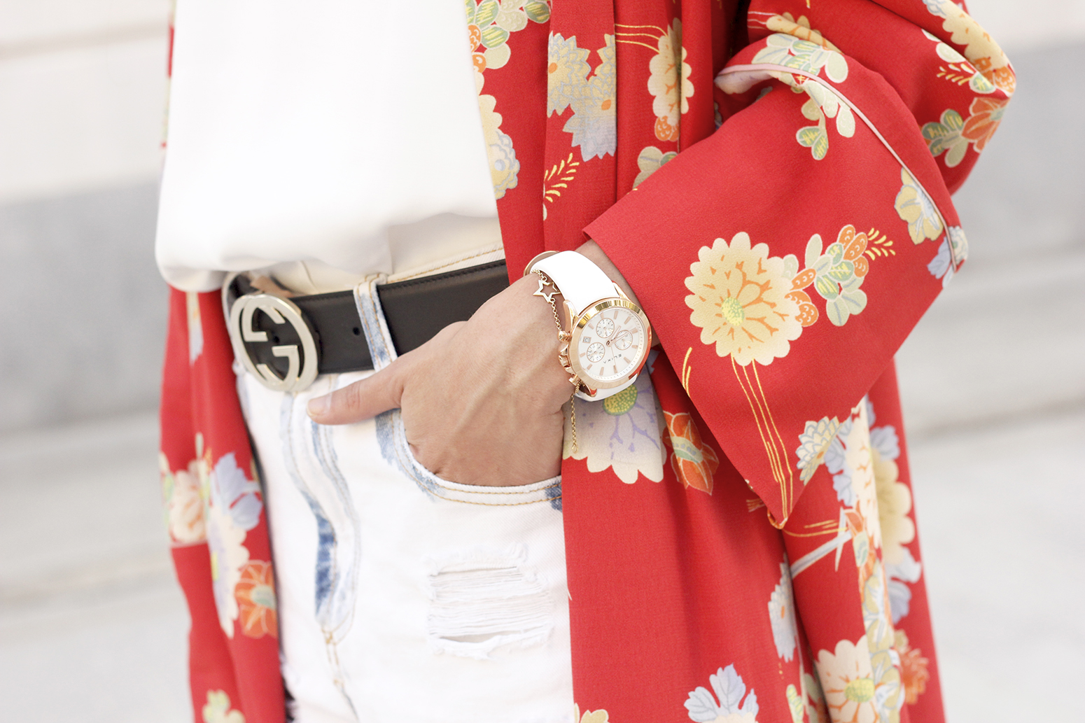 Flowered maxi kimono denim short heels summer girl style fashion17