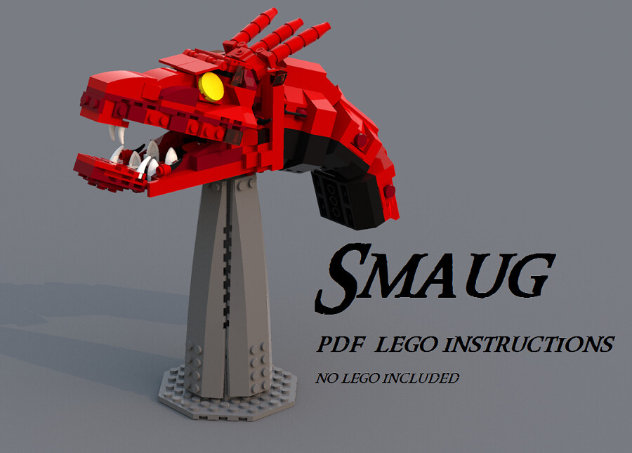 Lego Moc Cheap Lego Smaug Pdf Instructions Buy Sell Trade And