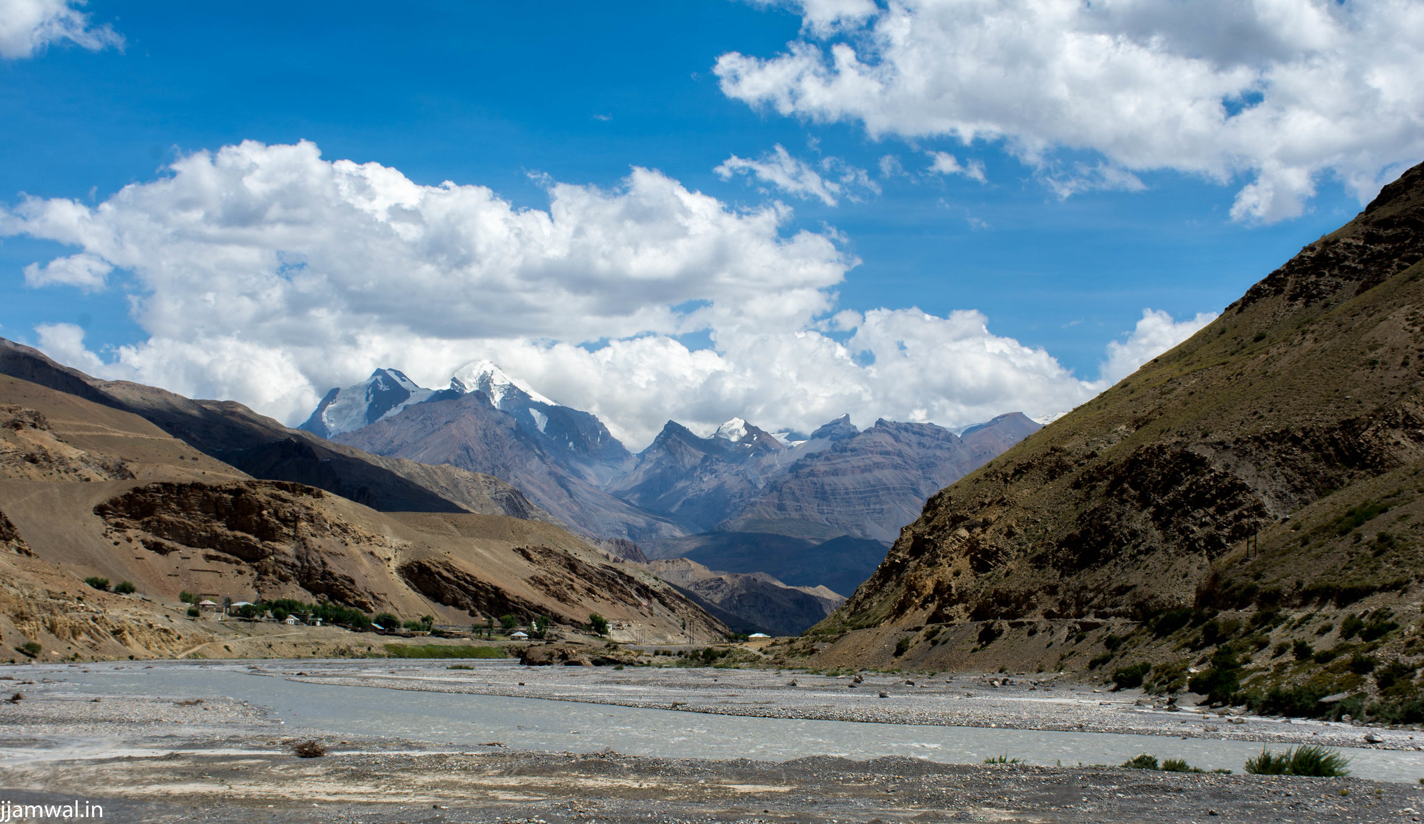 View from Road below Dhankar