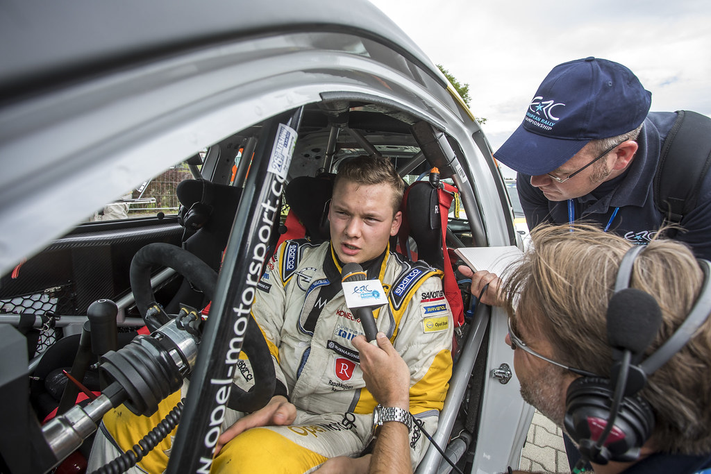HUTTUNEN Jari (FIN) LINNAKETO Antti (FIN) Opel Adam R2 ambiance portrait during the 2017 European Rally Championship Rally Rzeszow in Poland from August 3 to 5 - Photo Gregory Lenormand / DPPI
