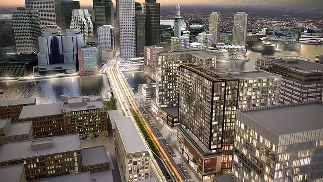One-Seaport-Square-The-Benjamin-VIA-Top-Off-South-Boston-Waterfront-Seaport-District-Residential-Office-Retail-Restaurant-Development-Boston-Global-Investors-BGI-Berkshire-Group-WS-Development-John-Moriarty-Associates-Construction-J-Derenzo