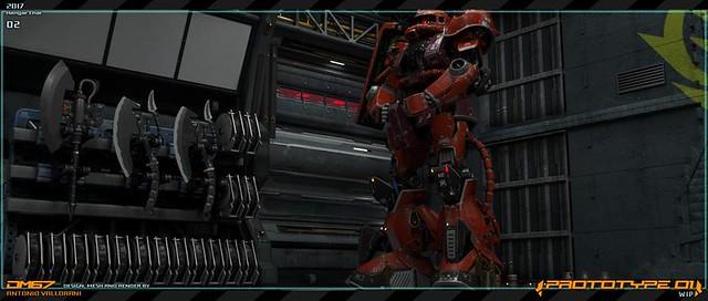 Gundam Prototype - Hangar Zaku 4