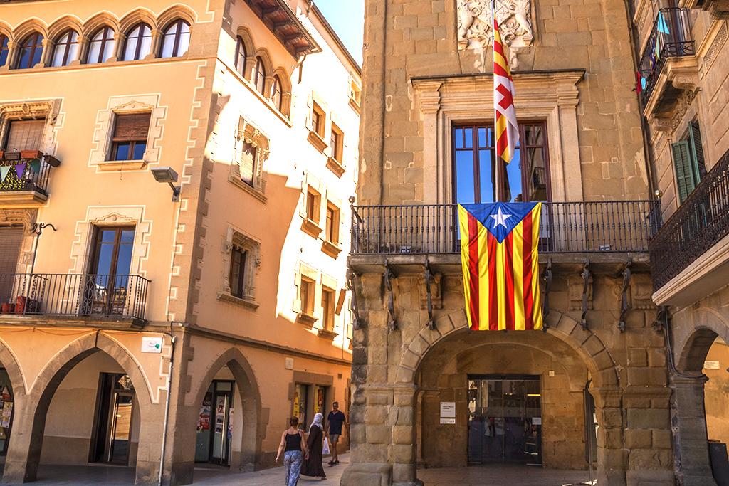 Large Catalan flag--Vic