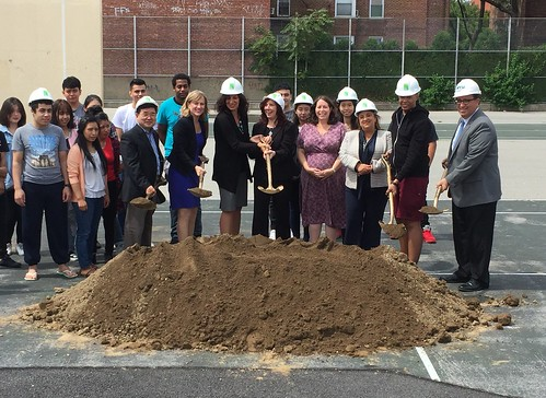 Green Playground Groundbreaking: Flushing, Trust for Public Land