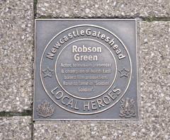 Photo of Robson Green bronze plaque