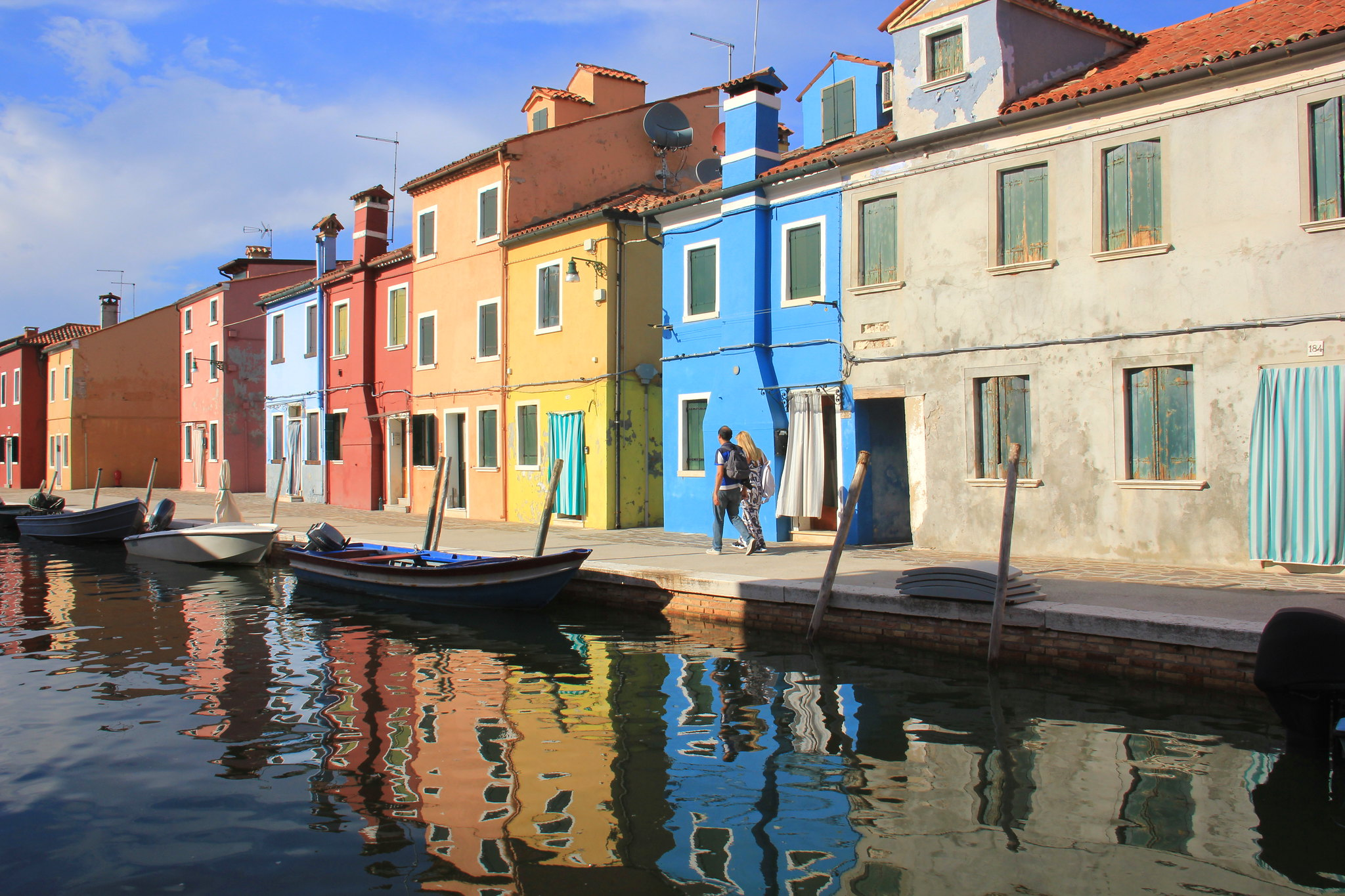 The popular tourist island of Burano