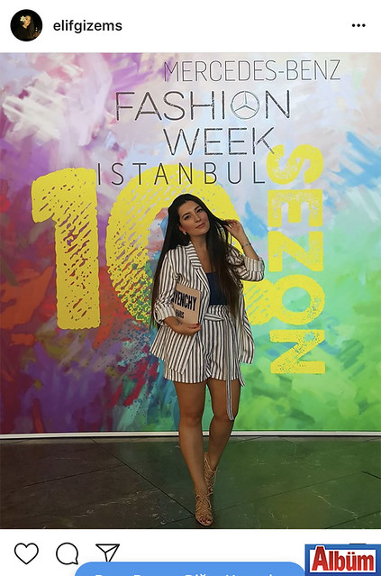 Moda Tasarımcısı Gizem Gündoğan,İstanbul Fashion Week'te arkadaşlarının defilelerini özenle takip etti.