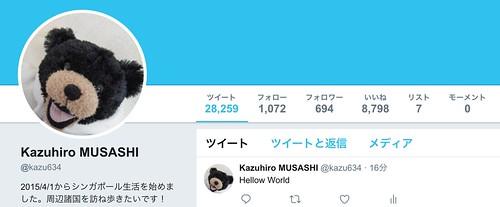 Kazuhiro MUSASHI  kazu634 さん   Twitte
