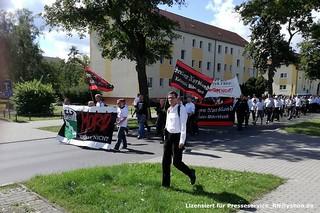 2017.08.19 Falkensee Neonaziaufmarsch zum Todestag von Rudolf Hess (1)