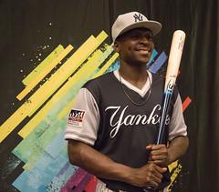 Sir Didi! Didi Gregorius poses with his #PlayersWeekend Louisville Slugger bat.