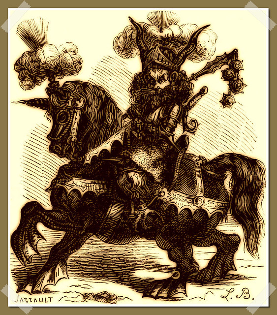 Allocer as depicted in Collin de Plancy's Dictionnaire Infernal, 1863 edition.