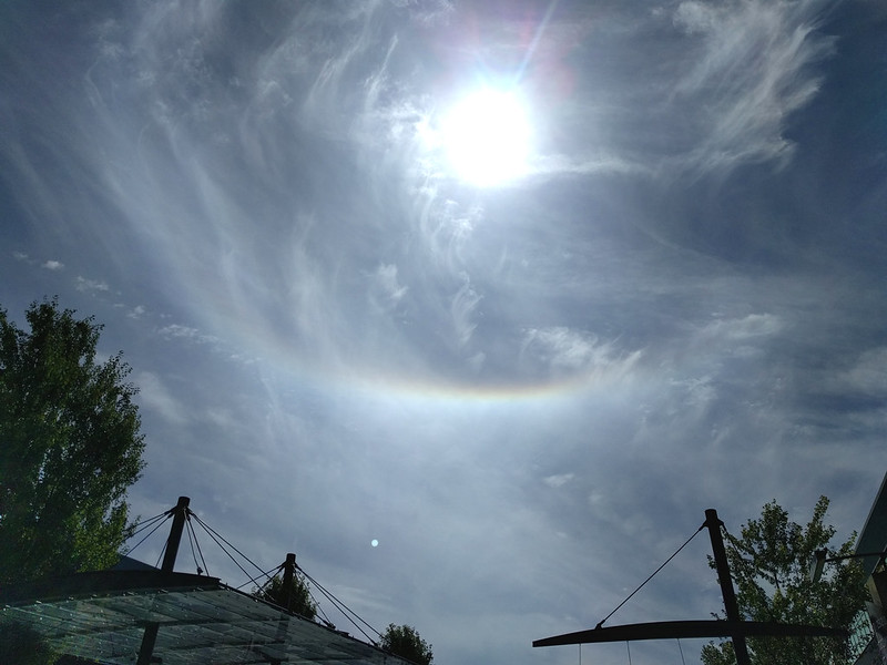 Sun dog in East Vancouver