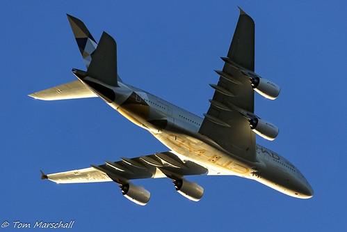 parramatta newsouthwales australia au view balcony home plane airliner a380 etihad ey flight sky sunset