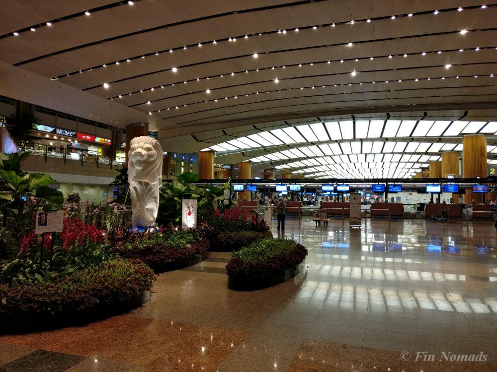 Singapore airport sleeping