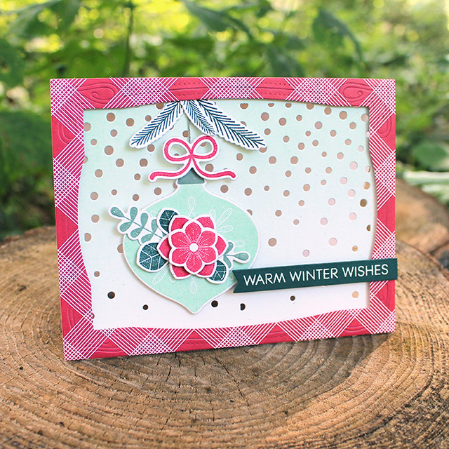 Winter Wishes Ornament Card