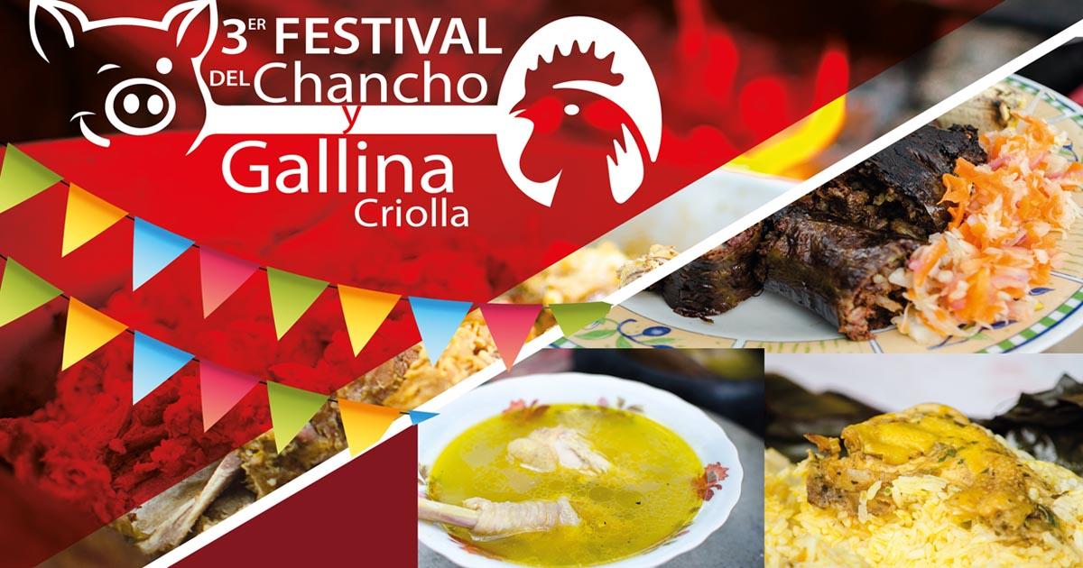 En Tres Esquinas de Convento se realizará festival de Chancho y Gallina Criolla