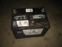 2001-2006 Acura MDX 12 Volt Car Battery Removed - Replacing Weak or Dead 12V Automotive Battery