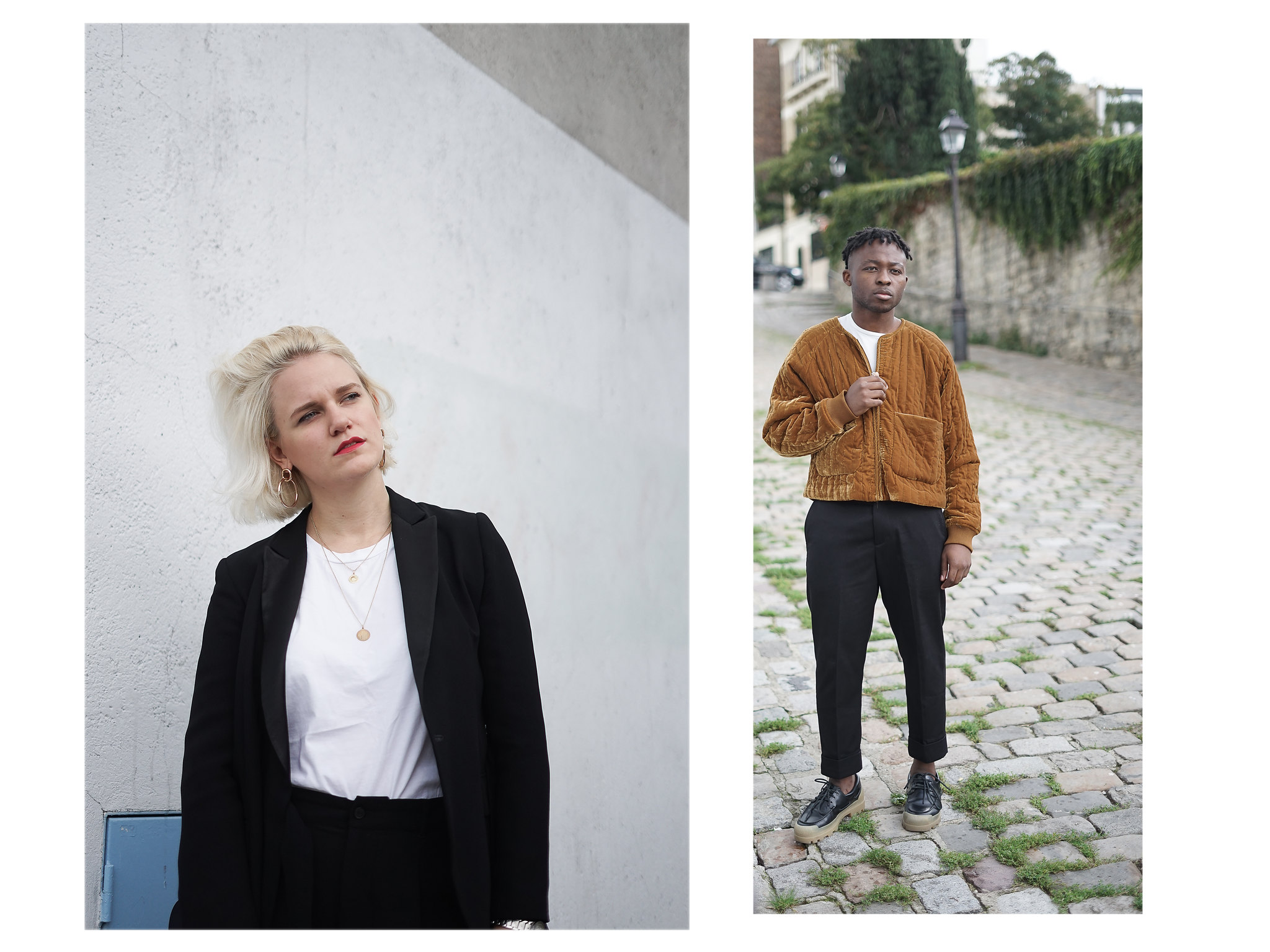 look couple mode paris streetstyle sandro weekday maje acne studios