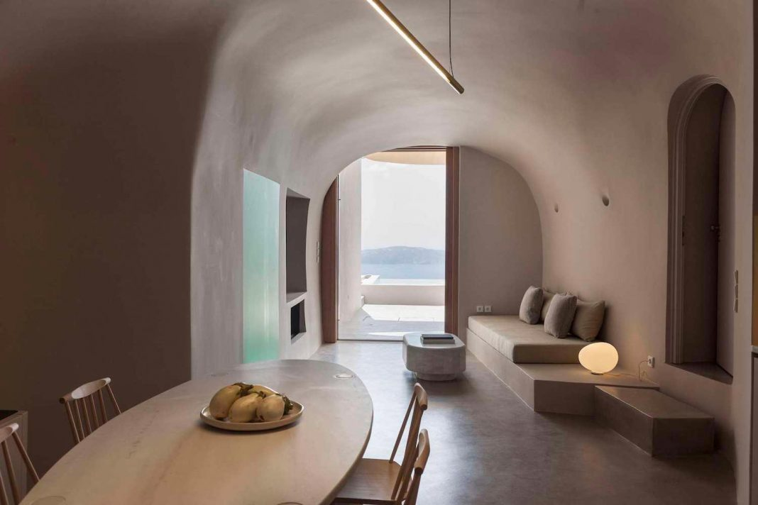 The extension of two old existing cave houses on the island of Santorini  Architects: Kapsimalis Architects Location: Thira, Greece