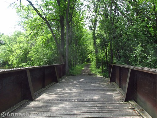 Crossing another bridge on the Ontario Pathways Rail Trail, New York
