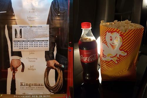 """Coca Cola und Popcorn zum Kinofilm """"Kingsman - The Golden Circle"""" in der Filmpassage Osnabrück"""
