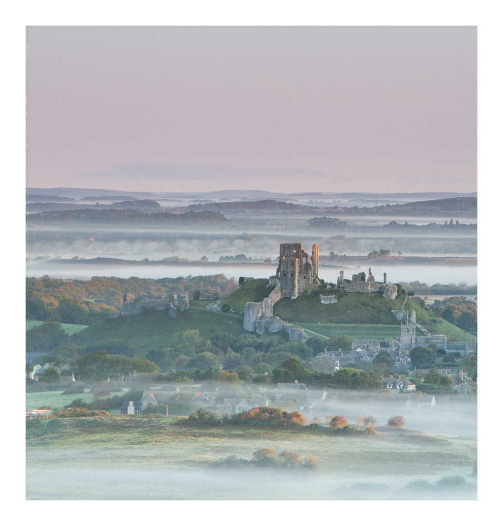 Corfe Castle Misty View