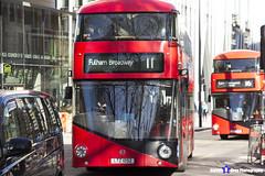 Wrightbus NRM NBFL - LTZ 1052 - LT52 - Fulham Broadway 11 - Go Ahead London - London 2017 - Steven Gray - IMG_6621