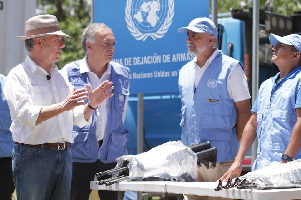 Evento finalización extracción armas de los campamentos. Pondores, La Guajira. Agosto 15/17.