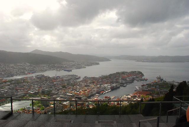 Noruega. Desde el Mirador Monte Floyen de Bergen.
