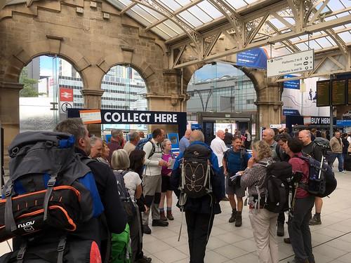 Gathering on Sheffield station