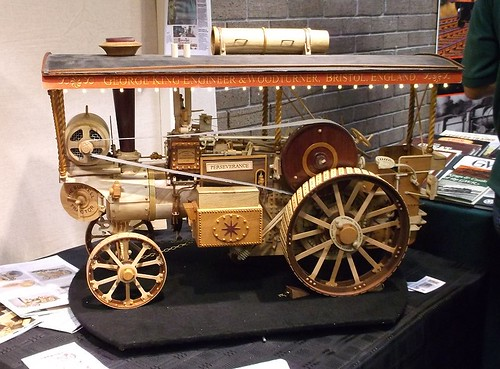 Wooden traction engine