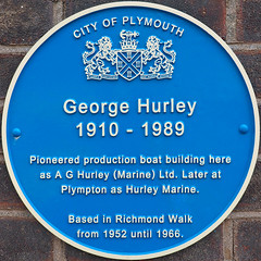 Photo of George Hurley blue plaque