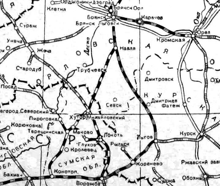 Станція_Глухів_на_фрагменті_Московсько-Києво-Воронезької_залізниці_(1940_рік)