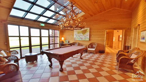 Hotel Ranga Iceland Review - Hotel Ranga game room - luxury accommodation