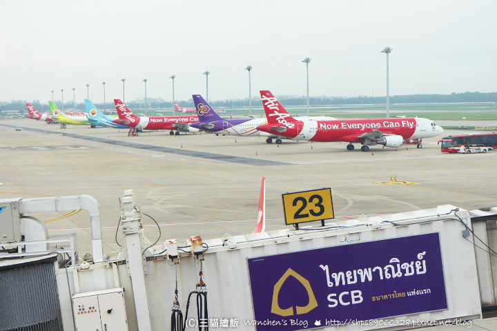 泰國機場各種飛機